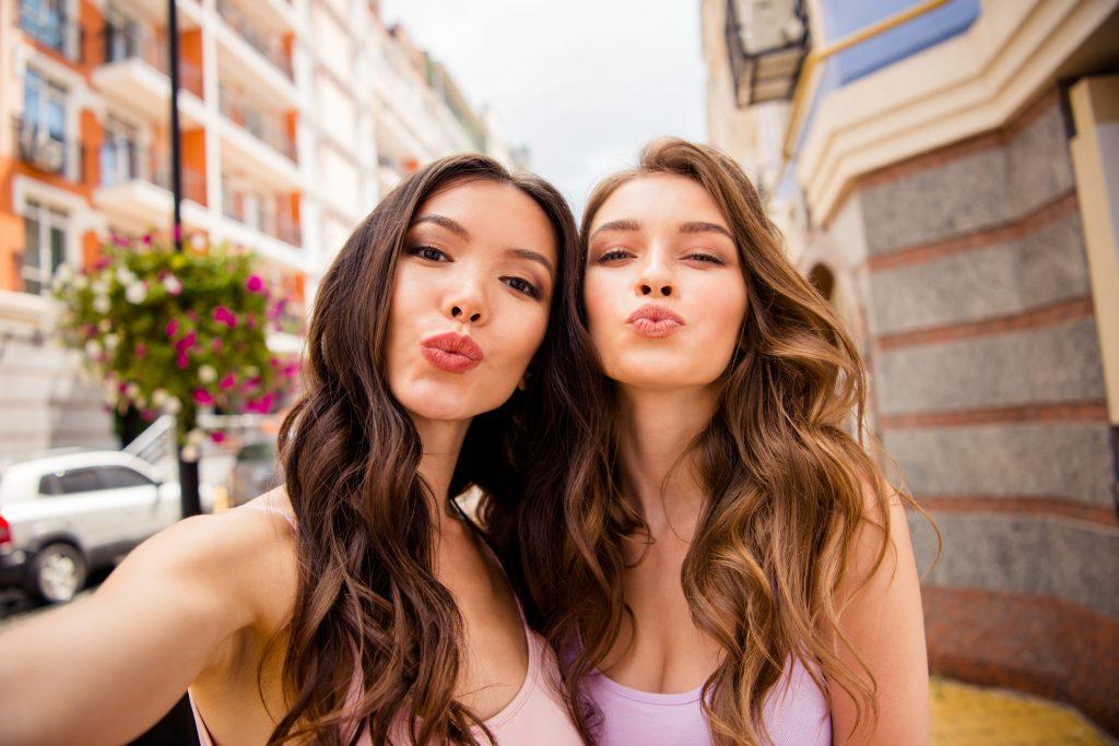Women After Lip Augmentation